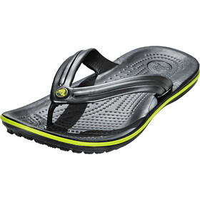Crocs Crocband Flip Sandals graphite/volt green